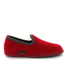 HAFLINGER SLIPPER UNI<br>Rouge