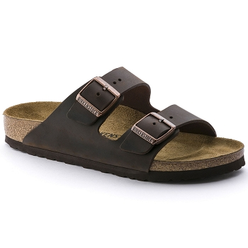 BIRKENSTOCK ARIZONA CUIR<br>Marron