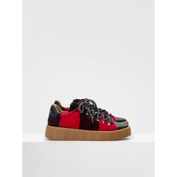 NO NAME GINGER SNEAKER<br>Rouge