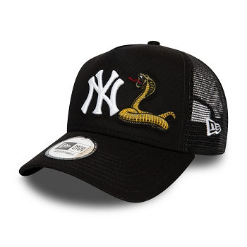 NEW ERA MENS TWINE MLB TRUCKER NEYYAN 12134873<br>Noir