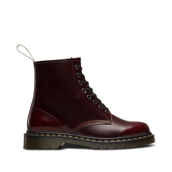 DOC MARTENS VEGAN 1460 CHERRY RED CAMBRIDGE BRUSH<br>Bordeaux