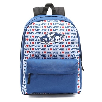 VANS TEXTILE WM REALM BACKPACK TRUE BLUE<br>Bleu