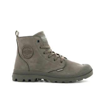 PALLADIUM PAMPA HI ZIP NUBUCK<br>Marron