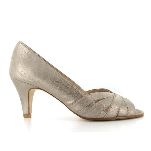 Costa Chaussures escarpins Sofia Nu pieds cuir velours Costa soldes DWj0C87