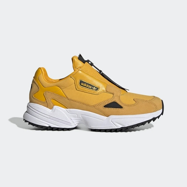 adidas falcon jaune femme