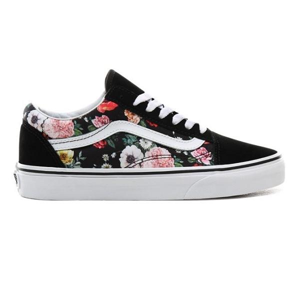 chaussures vans femme fleur