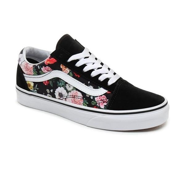 chaussure vans avec des fleur femmes