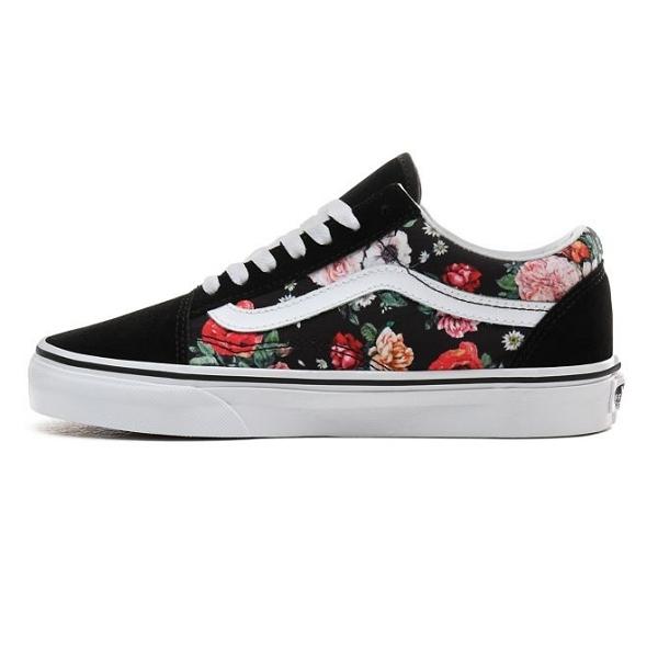 chaussure vans femme fleur